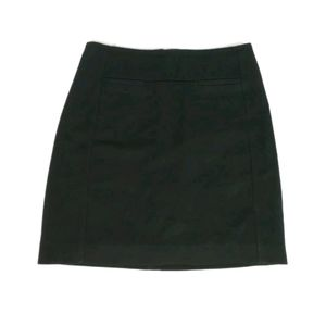 Loft black straight/a-line mini skirt